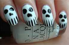 Spooky Skeleton Manicures - This Skull Nail Art Tutorial is Scarily Quick and Easy