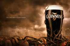 Spooky Jet-Black Brews - The Market Store Gives Guinness a Holiday Makeover