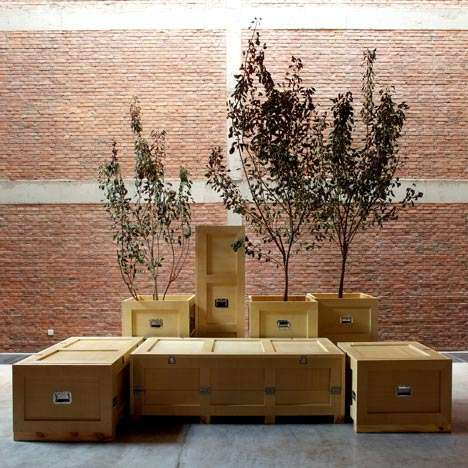 Naihan Li Has Stored an Entire Living Room into Boxes