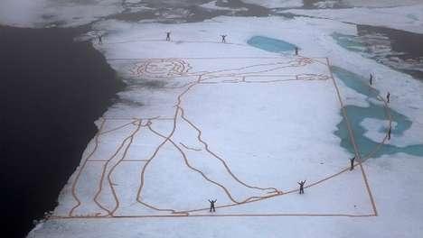 Polar Ice Sculptures