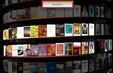 Infinite Virtual 3D Libraries - Google WebGL Bookcase is a Never-Ending Helix of Titles