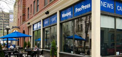 Newspaper-Branded Coffee Shops - Winnipeg Free Press Cafe Invites Interaction With Publication