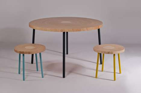 Sliced Trunk Tables