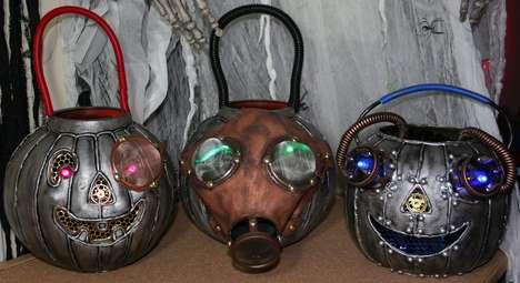 Steampunk Plastic Pumpkins