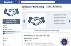 Social Media Job Creators - Facebook Social Jobs Partnership Facilitates Employment Via Networking