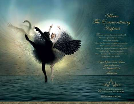 The Royal Opera House Muscat Ads Feature the Stunning Swan Lake