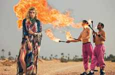 Fiery Hippie Fashion Shoots