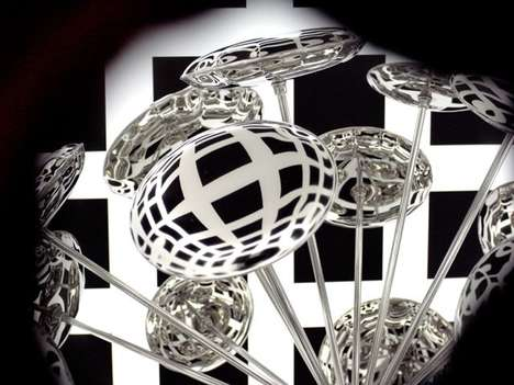 Kaleidoscopic Design Installations - The Zieta Reflections Exhibit Puts the Plopp Stool in a Cage