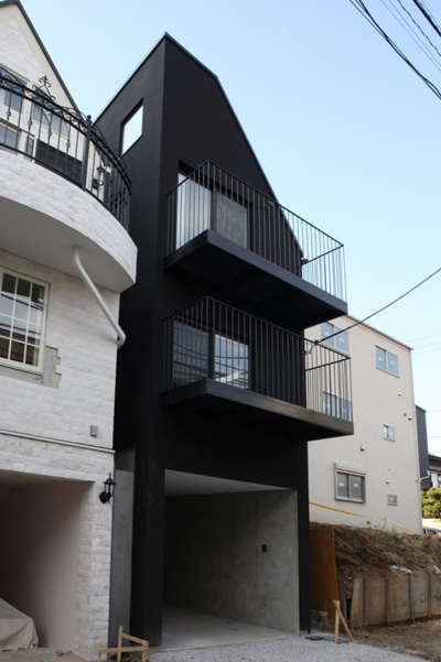 Sleek Slender Homes - The House Contrast by Key Operation is Narrowly Designed