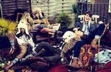 Festive Bohemian Lookbooks - The River Island Fall Campaign is Casually Glamorous