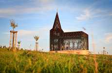 Transparent Sacred Chapels - The Gijs Van Vaerenbergh Church is Steel and See-Through