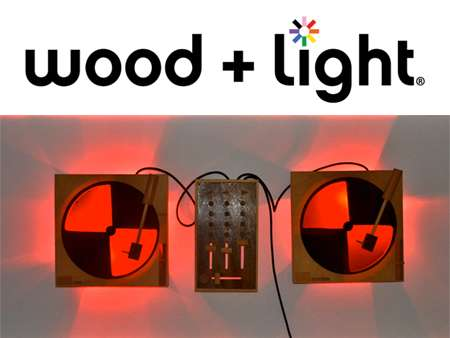 Lit Wooden Turntables
