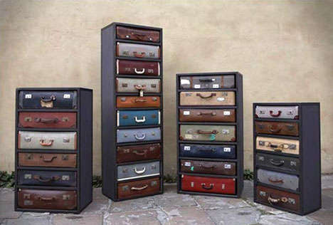 James Plumb Design Transforms Discarded Suitcases into Drawers