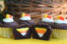 Festive Striped Sweets - These Candy Corn Cupcakes are Perfect for Halloween