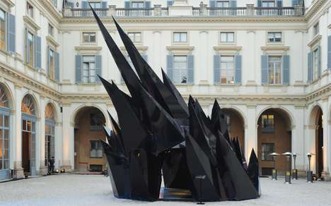 Ominous Spiked Installations