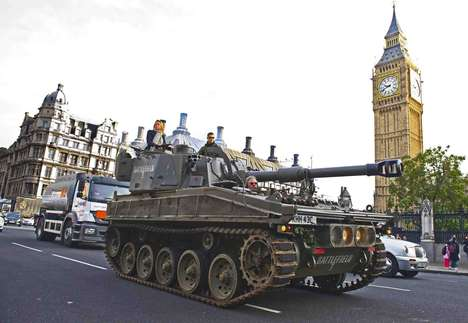 Combat Commute Vehicles - Tanksis are Used to Promote the EA's Battlefield 3 Game