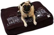 Plush Pooch Blankets - The Brown City Print Dog Bed Cover is Adorably Cute