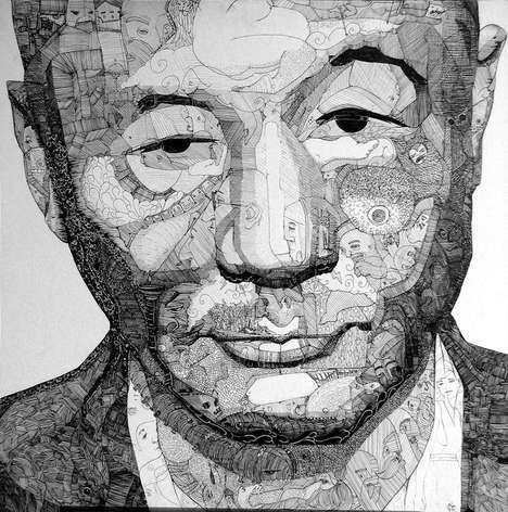 Intricate Doodle Portraits