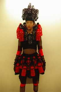 Fashion From Recycled Plastic - PET Bottle Samurai Outfit