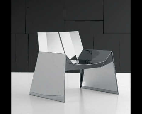 Futuristic Steel Armchair - Alaska Chair