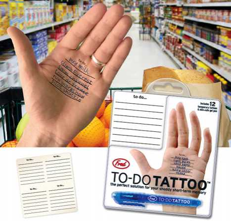 To Do List Temp Tattoo