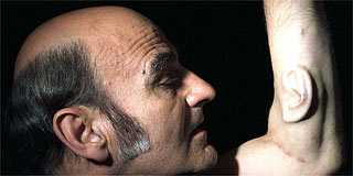 Sculptures With Real Human Skin - Man Exhibits 3rd Ear