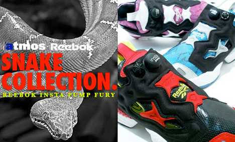 Reptile Sports Shoe - Reebok Insta Pump Fury Snake Collection