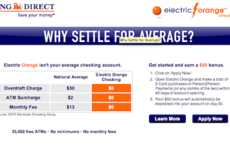 Free Fee Banking - Electric Orange Checking Account Pays You to Sign Up