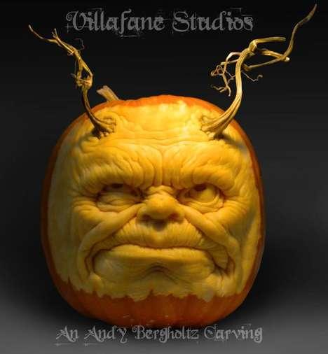 Hyperrealistic Pumpkin Carvings