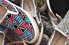 Charitable Canvas Kicks - Bucket Feet Designs One-Of-A-Kind Shoes for Kid's Charities