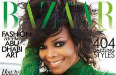 Glam Green Starlet Shoots - The Janet Jackson Harper's Bazaar Arabia Shoot is Ho