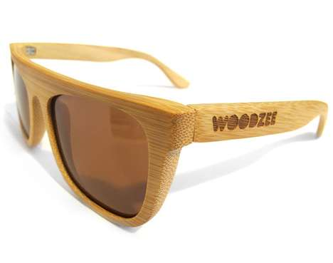The Woodzee Wooden Sunglasses are Fashionably Eco-Friendly