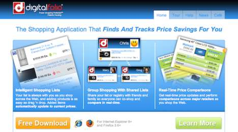 Clever Comparative Shopping Sites - Digital Folio Tracks Prices from Major Retailers