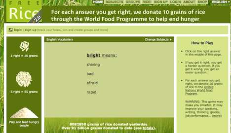 Charitable Exam Challenges - Free Rice Gives a Grain to Those in Need for Correct Answers
