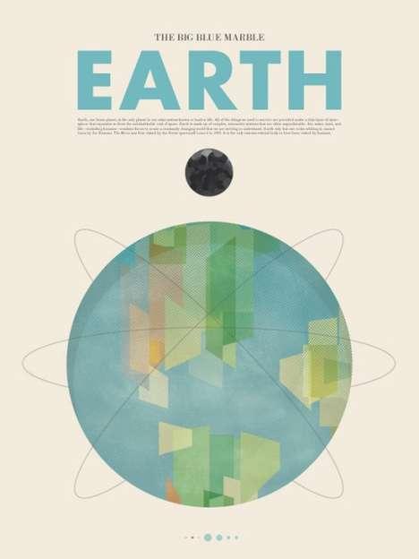 Retro Planetary Posters
