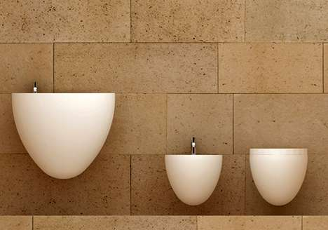 Egg-Shaped Washroom Fixtures