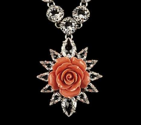 Radiant Rose-Adorned Jewels