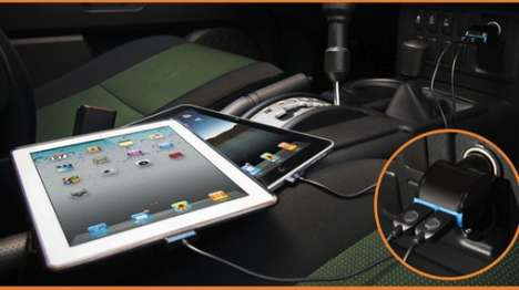 Multi-Tablet Outlets - Fuel Two iPads in No Time with the Dual Travel Charging Hub