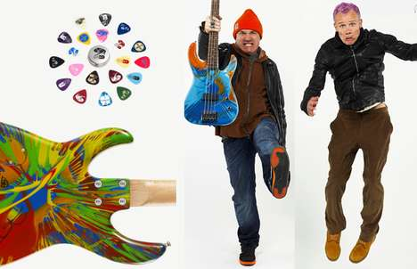 Flea x Damien Hirst Bass Guitar is Sold for a Great Cause