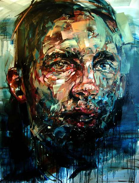 Splattered Paint-Swatch Portraiture