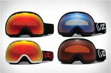 Wide-Eye Snowboard Shades - Vonzipper Fishbowl Goggles Maximize Vision for High-Performance