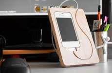 Cutting Board Device Holders - The BaseStation for iPhone 4 Provides a Snug Place for Smartphones