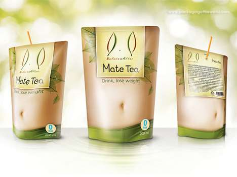 Bulging Belly Branding - Mate Tea Packaging Loses its Pudge as its Contents are Consumed