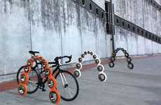 Ball-Bearing Bike Racks - Derailed by Joneschijoff Incorporates Aesthetics into Cycle Storage