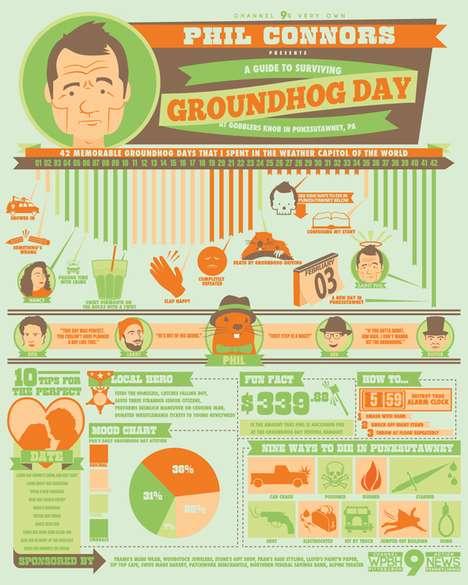Comedic Icon Infographics