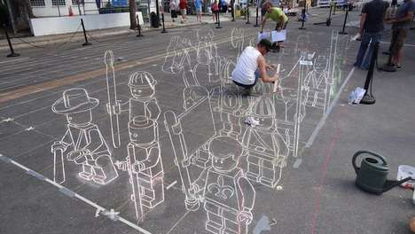 3D Chalk-Block Battles