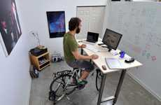 Cycling Workspaces - The Kickstand Desk Keeps Workers Constantly Moving