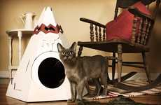 Feline Friendly Tents - The Native American Cat Teepee is a New World of Fun