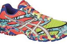Wildly Collaged Trainers - Asics GEL-NOOSA TRI 6 Gives Off a Vibrant Psychedelic Vibe
