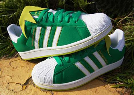 The Superstar II Kermit the Frog Sneakers are Bold